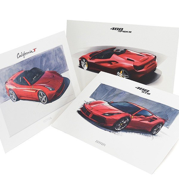 フェラーリ純正 488GTB/488Spider/California-T VIPゲスト記念品リトグラフセット|itazatsu|03