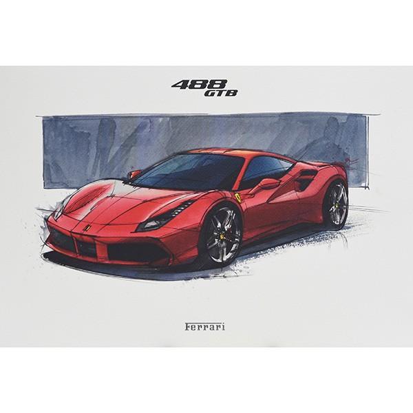フェラーリ純正 488GTB/488Spider/California-T VIPゲスト記念品リトグラフセット|itazatsu|04