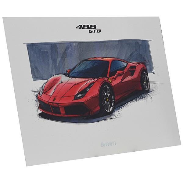フェラーリ純正 488GTB/488Spider/California-T VIPゲスト記念品リトグラフセット|itazatsu|05