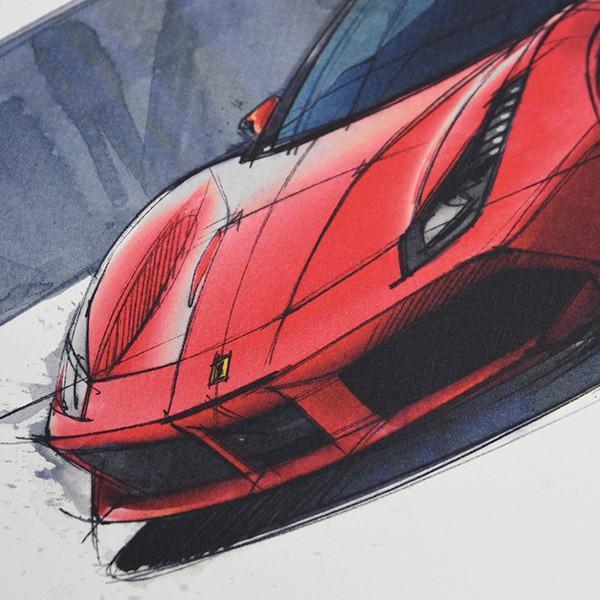 フェラーリ純正 488GTB/488Spider/California-T VIPゲスト記念品リトグラフセット|itazatsu|06