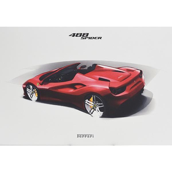 フェラーリ純正 488GTB/488Spider/California-T VIPゲスト記念品リトグラフセット|itazatsu|08