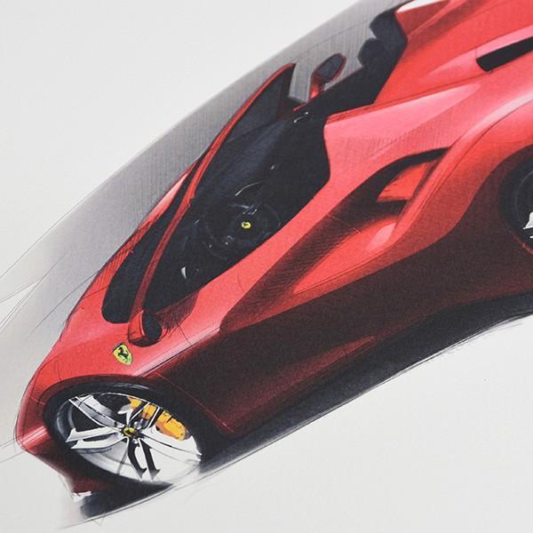 フェラーリ純正 488GTB/488Spider/California-T VIPゲスト記念品リトグラフセット|itazatsu|10