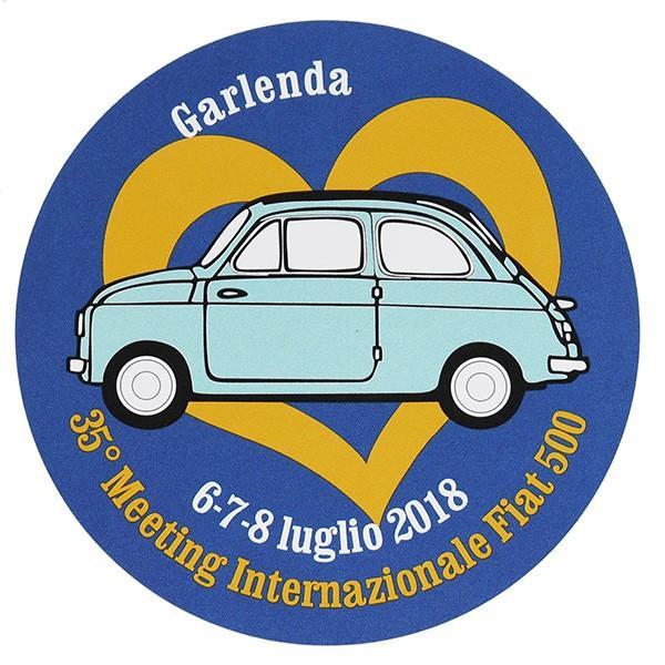 フィアット FIAT 500 CLUB ITALIA 35thミーティングステッカー|itazatsu