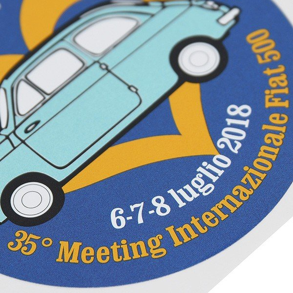 フィアット FIAT 500 CLUB ITALIA 35thミーティングステッカー|itazatsu|04