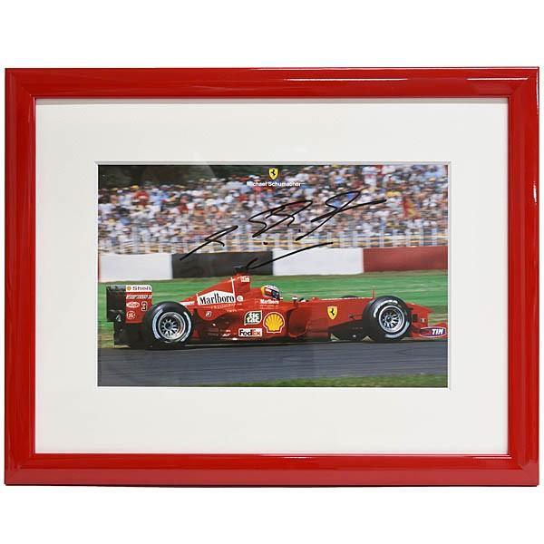 スクーデリア フェラーリ純正 2000年W.C.記念額装アウトグラフカード-M.Schumacher直筆サイン入り-|itazatsu