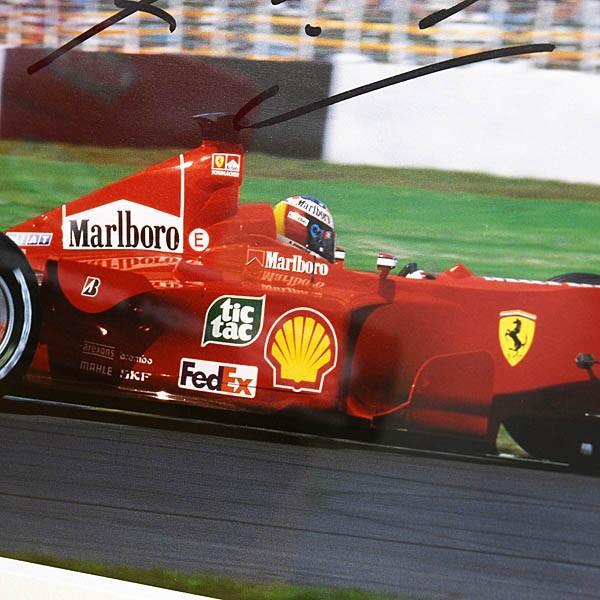 スクーデリア フェラーリ純正 2000年W.C.記念額装アウトグラフカード-M.Schumacher直筆サイン入り-|itazatsu|04