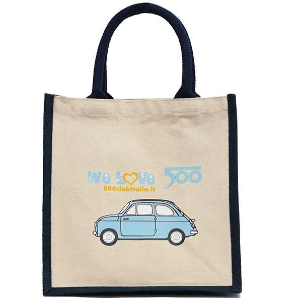 フィアット FIAT 500 CLUB ITALIAトートバッグ(Small/ブルー)|itazatsu|02
