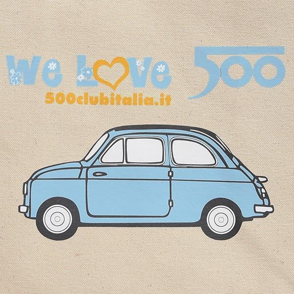 フィアット FIAT 500 CLUB ITALIAトートバッグ(Small/ブルー)|itazatsu|04