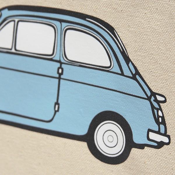 フィアット FIAT 500 CLUB ITALIAトートバッグ(Small/ブルー)|itazatsu|06