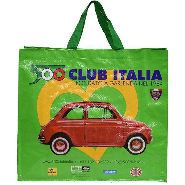 フィアット FIAT 500 CLUB ITALIA ショッパー(グリーン)|itazatsu|02