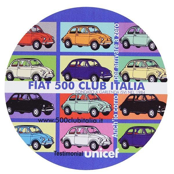 フィアット FIAT 500 CLUB ITALIA UNICEFステッカー(カラーバリエーション)|itazatsu