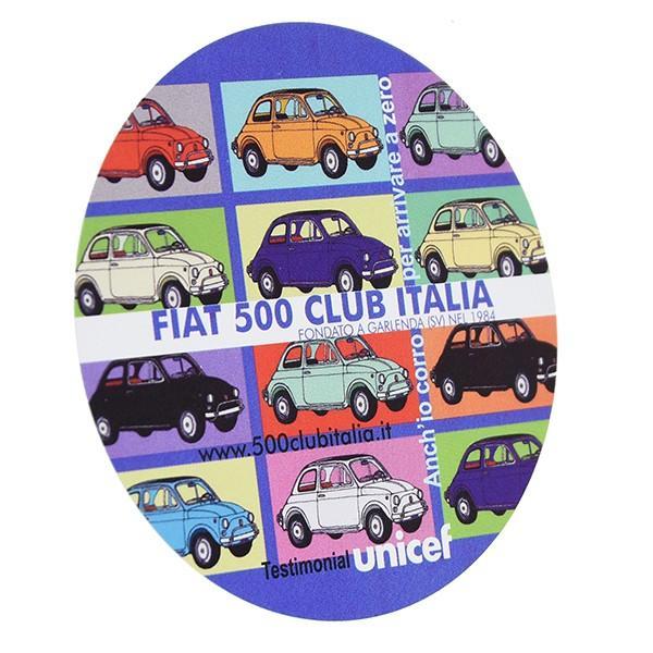 フィアット FIAT 500 CLUB ITALIA UNICEFステッカー(カラーバリエーション)|itazatsu|02