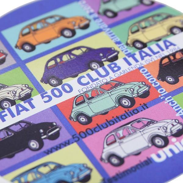 フィアット FIAT 500 CLUB ITALIA UNICEFステッカー(カラーバリエーション)|itazatsu|03