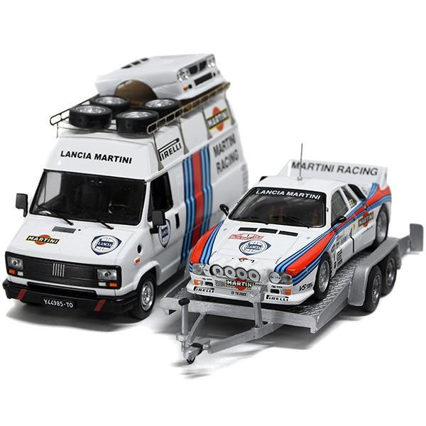 1/43 ランチア純正 037 Rally&MARTINI RACINGトランスポーターミニチュアモデル|itazatsu