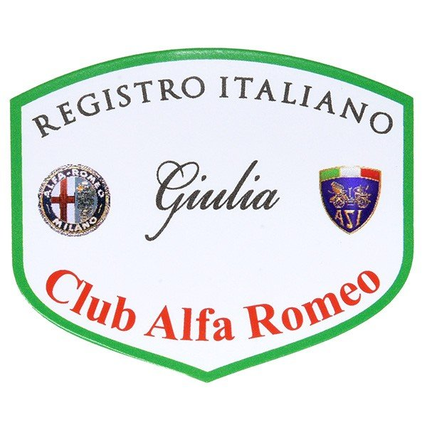 REGISTRO Italiano GIULIA Club Alfa Romeoステッカー(Large)|itazatsu