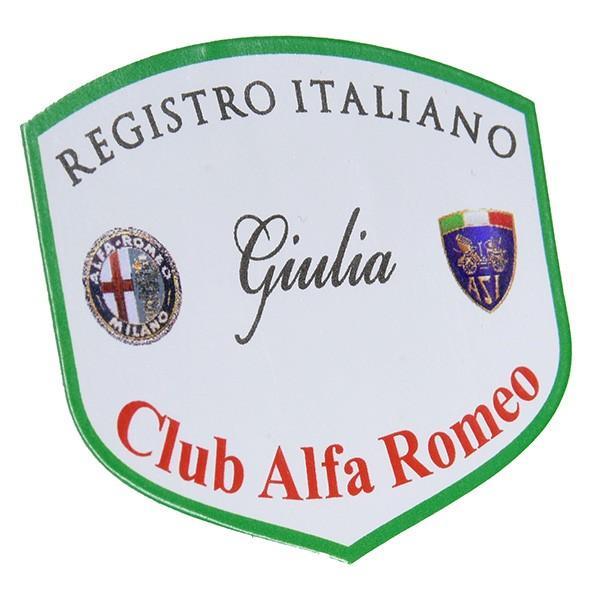 REGISTRO Italiano GIULIA Club Alfa Romeoステッカー(Large)|itazatsu|02