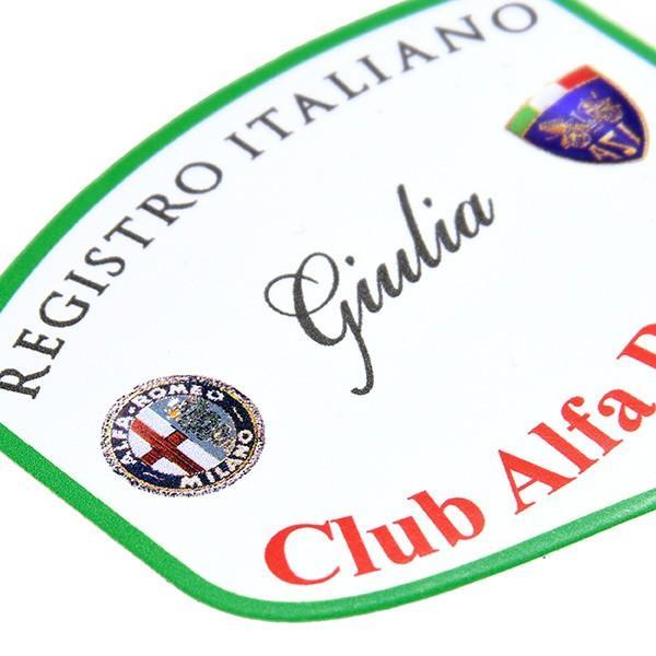 REGISTRO Italiano GIULIA Club Alfa Romeoステッカー(Large)|itazatsu|03