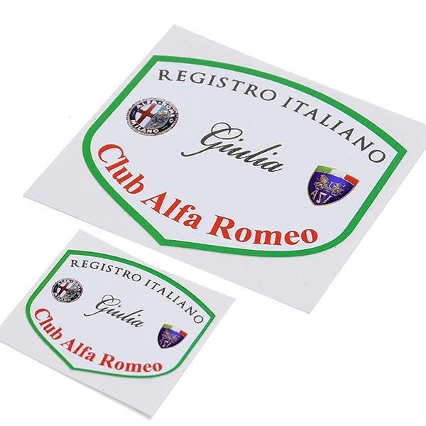 REGISTRO Italiano GIULIA Club Alfa Romeoステッカー(Large)|itazatsu|04