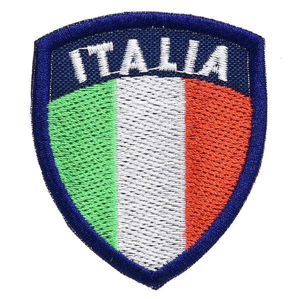 イタリア国旗ワッペン(シールド型)|itazatsu