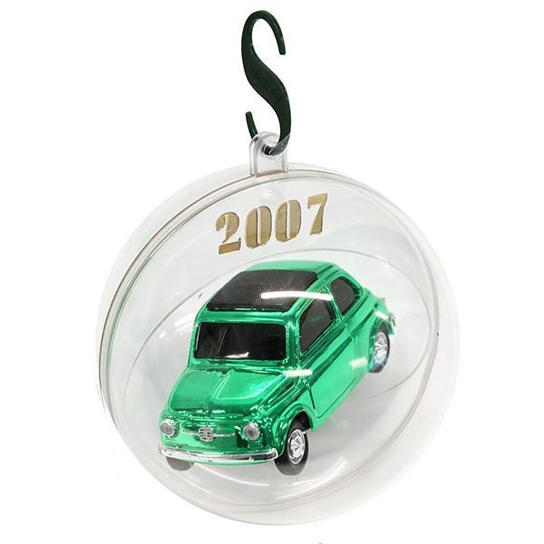 1/43 フィアット 500ミニチュアモデル Natale 2007エディション(メタルグリーン)|itazatsu