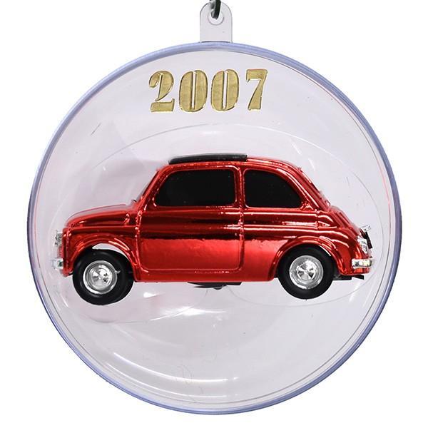 1/43 フィアット 500ミニチュアモデル Natale 2007エディション(メタルレッド)|itazatsu|02