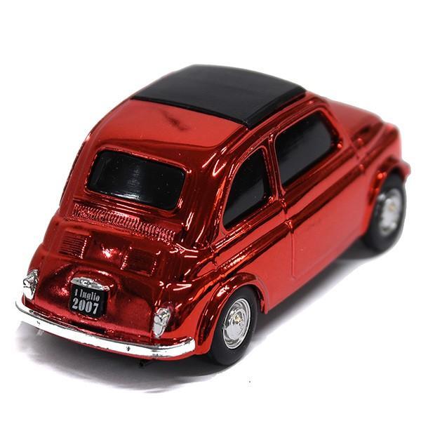 1/43 フィアット 500ミニチュアモデル Natale 2007エディション(メタルレッド)|itazatsu|04