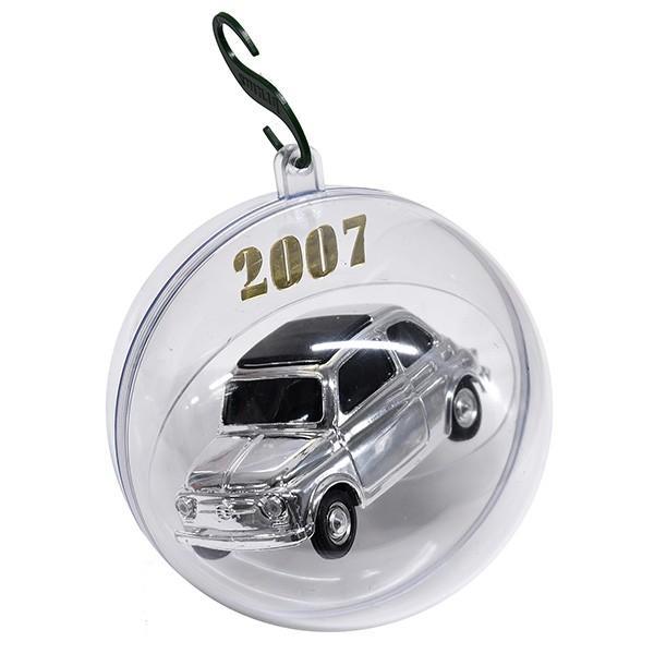 1/43 フィアット 500ミニチュアモデル Natale 2007エディション(メタルシルバー)|itazatsu