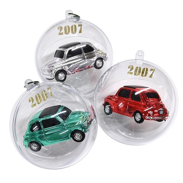 1/43 フィアット 500ミニチュアモデル Natale 2007エディション(メタルシルバー)|itazatsu|06