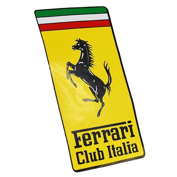 フェラーリ Ferrari Club Italiaエンブレムステッカー(XL)|itazatsu|02