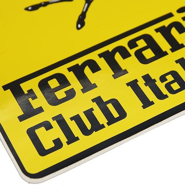 フェラーリ Ferrari Club Italiaエンブレムステッカー(XL)|itazatsu|05