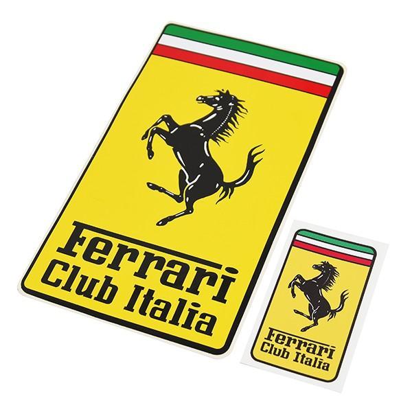 フェラーリ Ferrari Club Italiaエンブレムステッカー(XL)|itazatsu|06