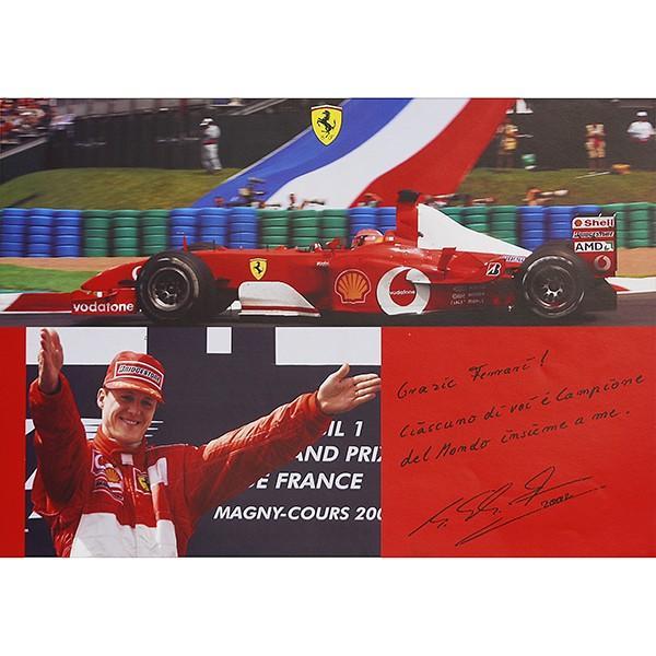 スクーデリア フェラーリ 2002ドライバーズ&コンストラクターズタイトル獲得記念ポスター|itazatsu