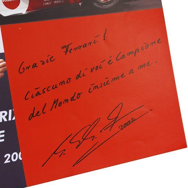 スクーデリア フェラーリ 2002ドライバーズ&コンストラクターズタイトル獲得記念ポスター|itazatsu|05