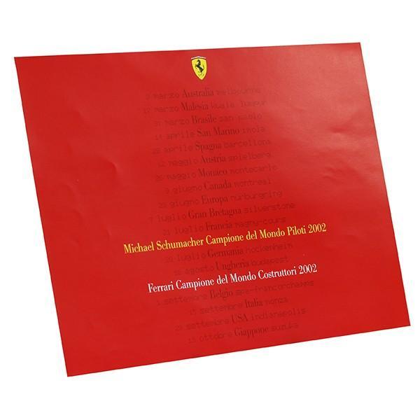 スクーデリア フェラーリ 2002ドライバーズ&コンストラクターズタイトル獲得記念ポスター|itazatsu|06