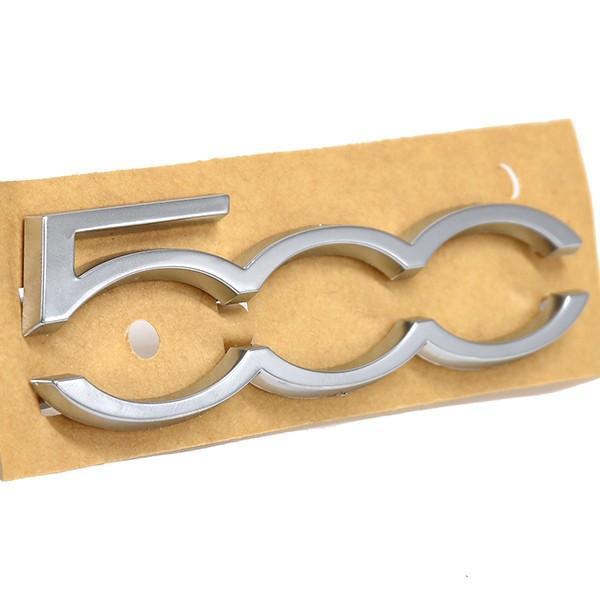 フィアット/アバルト純正500ダッシュボード用500ロゴエンブレム(サテンシルバー)|itazatsu|02