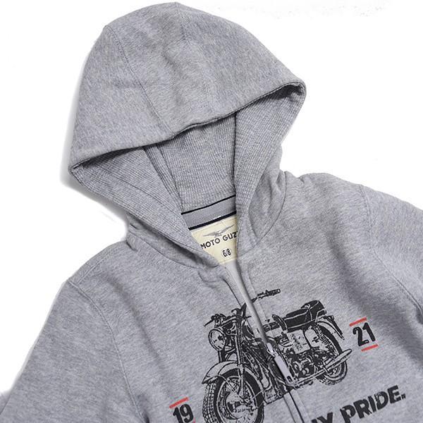 Moto Guzziキッズ用ジップアップフーディ-MY BIKE MY PRIDE-|itazatsu|05