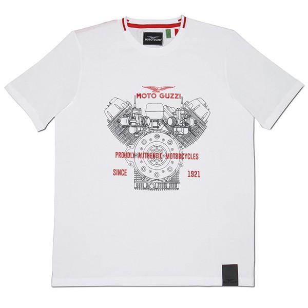 Moto GuzziオフィシャルTシャツ-CLASSIC-(ホワイト)|itazatsu