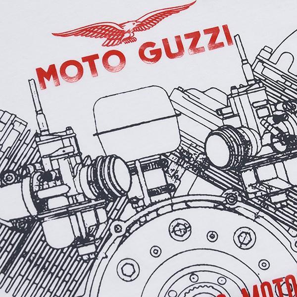 Moto GuzziオフィシャルTシャツ-CLASSIC-(ホワイト)|itazatsu|03