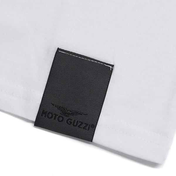 Moto GuzziオフィシャルTシャツ-CLASSIC-(ホワイト)|itazatsu|05