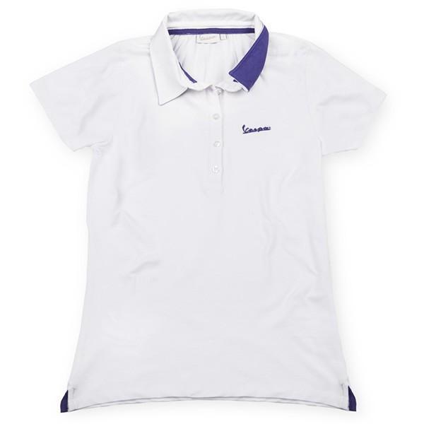 ベスパ オフィシャルレディスロゴポロシャツ(ホワイト)|itazatsu