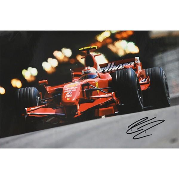 スクーデリア フェラーリ 2007オリジナルプレスフォト-Kimi Raikkonen直筆サイン-|itazatsu