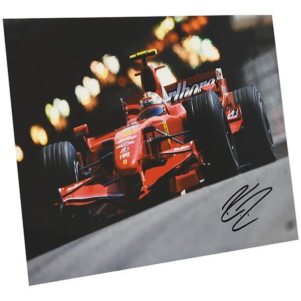 スクーデリア フェラーリ 2007オリジナルプレスフォト-Kimi Raikkonen直筆サイン-|itazatsu|02