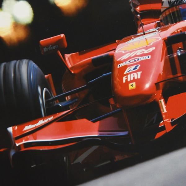 スクーデリア フェラーリ 2007オリジナルプレスフォト-Kimi Raikkonen直筆サイン-|itazatsu|03