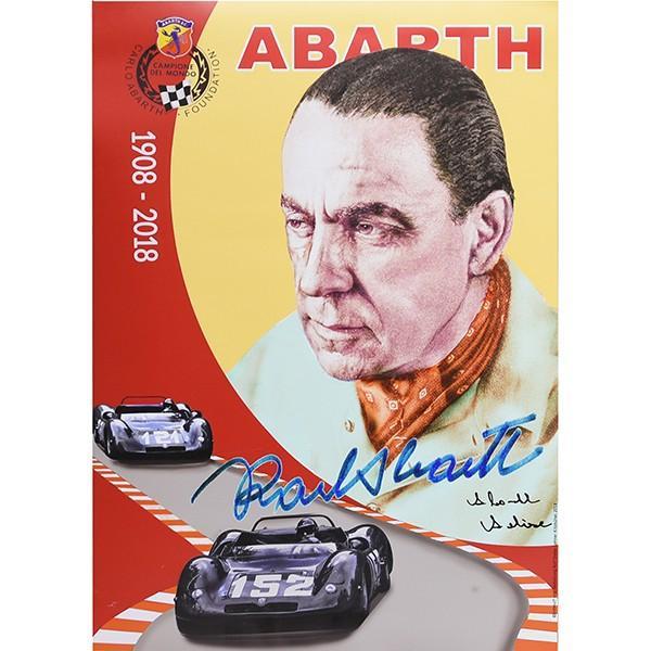 アバルト Carlo ABARTH生誕110周年メモリアルポスター(Annalisa ABARTH直筆サイン入り)|itazatsu