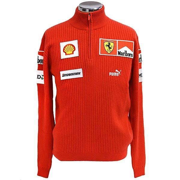 スクーデリア フェラーリ マールボロ 2008オフィシャルカシミアジップアップセーター(フルロゴ)|itazatsu