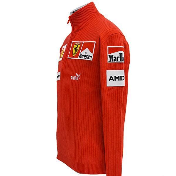スクーデリア フェラーリ マールボロ 2008オフィシャルカシミアジップアップセーター(フルロゴ)|itazatsu|03