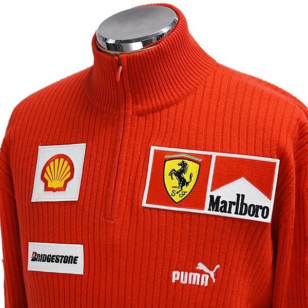 スクーデリア フェラーリ マールボロ 2008オフィシャルカシミアジップアップセーター(フルロゴ)|itazatsu|04