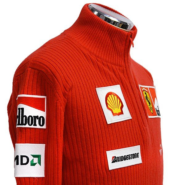スクーデリア フェラーリ マールボロ 2008オフィシャルカシミアジップアップセーター(フルロゴ)|itazatsu|05