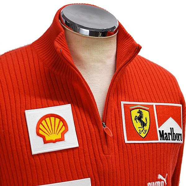 スクーデリア フェラーリ マールボロ 2008オフィシャルカシミアジップアップセーター(フルロゴ)|itazatsu|06