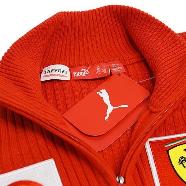 スクーデリア フェラーリ マールボロ 2008オフィシャルカシミアジップアップセーター(フルロゴ)|itazatsu|08